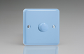 Varilight Pastel 1-Gang 2-Way Push-On/Off Rotary Dimmer 1 x 40-400W in Standard plate Duck Egg Blue